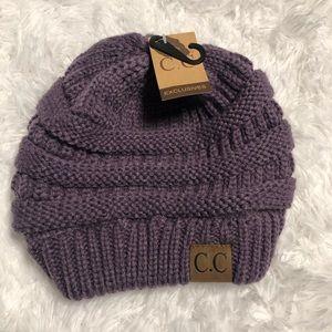 🍁NWT🍁 C.C. Knit Beanie Hat Purple